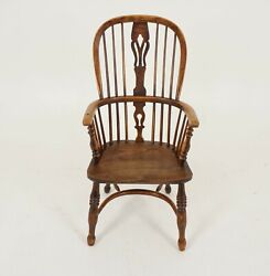 Antique Victorian Elm And Yew Windsor Armchair, Scotland 1830, B2282