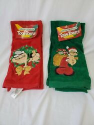 Popeye The Sailor Man Olive Oyl Hand Towel New W/ Tags Christmas Toon Towels