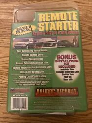 Bulldog Security Remote Starter Keyless Entryamp;Remote Trunk Pop RS114 quot;NEWquot; NOS