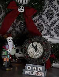 The Nightmare Before Christmas Halloween Countdown Table Clock Exclusive-new
