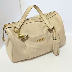 Coach Avery Leather Satchel Creamy Taupe Crossbody Summer Leather $60.00
