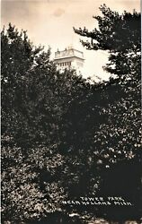 Vintage Postcard Extremely Rare View Tower Park Holland Michigan Real Photo Card