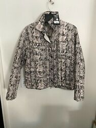 Nwt Atm Womens Quiltd Snake Print Puffer Jacket 90 Down Fits M 495 Coat Love