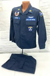 Vintage Montana Civil Air Patrol Patched And Named Utility Uniform