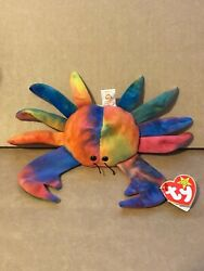 Special Rainbow Edition 1996 Beanie Baby Claude The Crab With Error