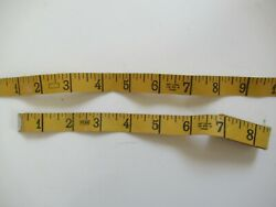 Vintage Lot Of 2 Penn 60 Yellow Sewing Measuring Tapes