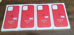 Lot Of 4 New Apple Silicone Case Iphone 12 Pro Max Magsafe Red