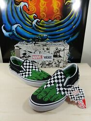 Classic Slip-on X Marvel The Incredible Hulk Checkerboard Ships Fast