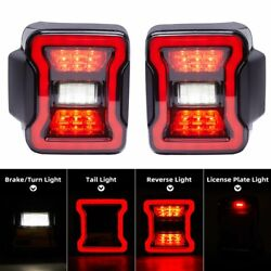 Full Led Tail Lights Sequential For 18-20 Jeep Wrangler Jl Turn Signal Rear Lamp