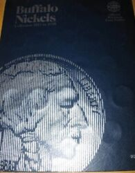 Whitman Buffalo Nickels Album 1913-1938 With 4 Nickels In Folder Collection