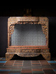 Antique Wooden Burmese Temple From Burma Late 19th Century