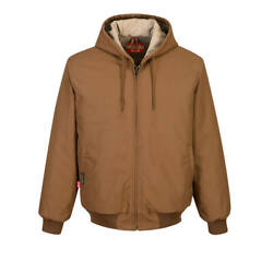 Mens Fr Flame Resistant Fr Duck Quilt Lined Jacket Brown S-5x