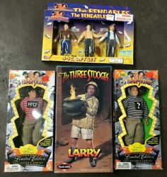Lot Of 4 Vintage The Three Stooges Larry Assembly Kit, Moe/curly Figures 1995