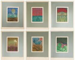 Arun Bose, Songs Of Veda Suite, Six Etchings With Aquatint, Each Signed And Numb