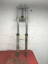 1984 1985 Kawasaki Kx80 Racer Moto Cross Front End Forks Complete Assembly