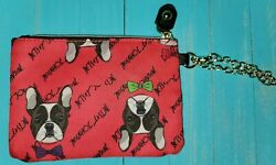 Betsey Johnson Change Purse French Bulldog Boston Terrier