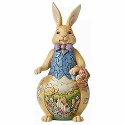Jim Shore Heartwood Creek Easter Bunny Rabbit Holding Basket With Eggs 6008408