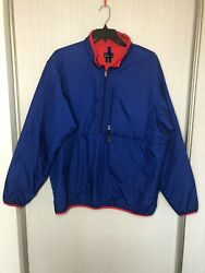 Adult Xl 1/2 Zip Insulated Pullover Jacket Blue/red Superb