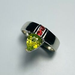 Natural Chrysoberyl And Sapphires 925 Silver/ Gold / Platinum Engagement Ring