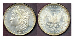 1878 7/8tf 1-lovely Toned Mint Luster Strong Morgan Dollar ++