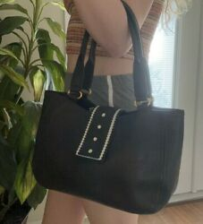 Vintage MaxMara Leather Satchel Purse Bag Made in Italy $110.00