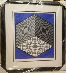 Victor Vasarely Cubic Relationship 1982 Hand Signed Lithograph