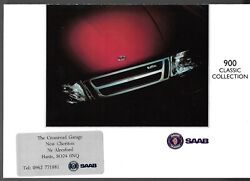 Saab 900 Classic Collection 1993 Uk Market Foldout Brochure T16 Ruby Special