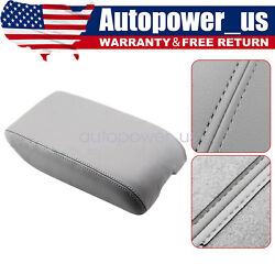 Fit For 2000-2004 Toyota Avalon Xl Leather Center Console Lid Armrest Cover Gray