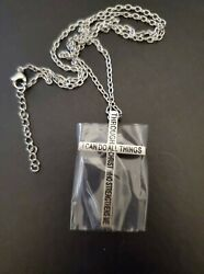Mens Stainless Steel Cross Necklace $9.00