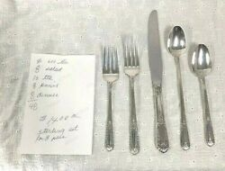 State House Sterling Silverware Set From 1942, 5 Piece Total Of 48