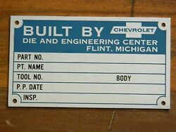 Lot Of 10 Nos - Unstamped Built By Chevrolet Tags / Signs Flint, Michigan