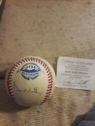 Don Mattingly Signed 1988 Official All Star Game Baseball Ray Schulte Coa