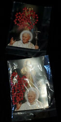 2 Postcards With Rosaries, Santo Giovanni Ii New From Rome Italy Free Us Ship