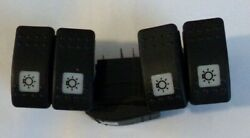 Lot Of 5 Carling 3 Position On/off/on 5 Terminal Pin Rocker Switch Light New