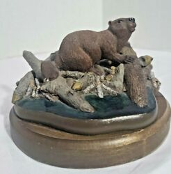 Vintage Martha Carey Marty Sculpture The Mastermind Beaver Sculpture Made In Usa