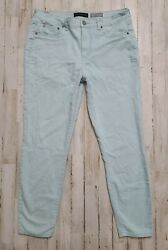 Aeropostale High Waisted Ankle Jeggings Size 12 Light Blue Stretch Skinny Jeans