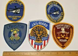 5 Lot Patches Louisville Jail Guard Security Lewiston Maine Helicopter More