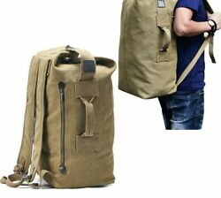 Unisex Canvas Camping Bags Arcuate Shoulders Strap Sports Bag Outdoor Activities