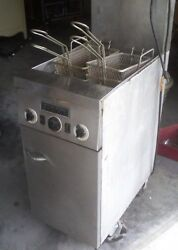 Fryer Commercial Deep Fryer Floor Model Natural Gas And Electric Auto Basket Lift