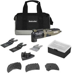 Rockwell Sonicrafter 3 Amps Corded Oscillating Multi-tool Kit 21000 Opm Rk5121k