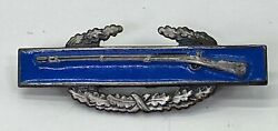 Vintage Us Army Miniature Combat Infantry Badge - Sterling And Pin Back