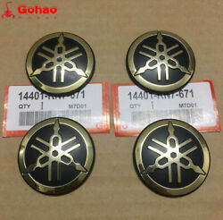 4pcs Orig. Tuning Forks Badge Emblem Decal For Yamaha Fuel Oi Tank Fender Tail