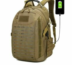 Usb Tactical Camping Rucksack Heavy-duty Molle System Bags Durable Backpacks New
