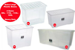 Extra Large Plastic Storage Boxes - Strong/durable - House Move - Tidying Up
