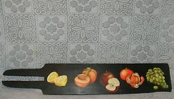 Vintage Kitchen 3d Fruit Wall Hanging Wood Hand Painted Cut Board Plaque Sign
