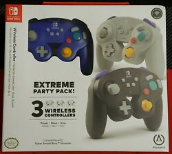 Powera Nintendo Switch Wireless Gamecube Controllers Extreme Party 3 Pack