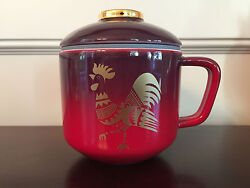 Starbucks 2017 Chinese Lunar New Year Rooster Coffee Tea Cup Mug With Lid - New