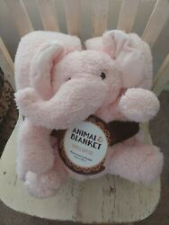 Plush Animal and Blanket 2 Piece Gift Set 50 in X 60 in Snuggle Blanket