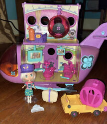 Littlest Pet Shop Authentic Airplane Purple Jet With Blythe Doll And Accessorie