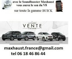 Active Sound Maxhaust Bluetooth Pop Bang 8 Sons Gamme Buick Andagrave Partir 1250andeuro